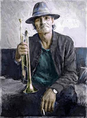Jazz Mixed Media - Chet Baker by Mal Bray