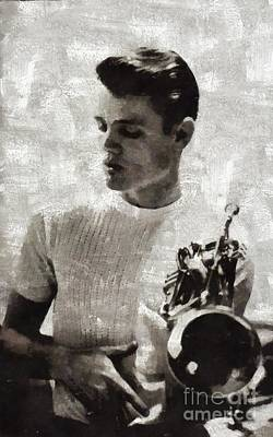Musicians Royalty Free Images - Chet Baker, Music Legend Royalty-Free Image by Mary Bassett