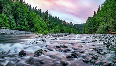 Photograph - Chetco River Sunset 2 by Leland D Howard