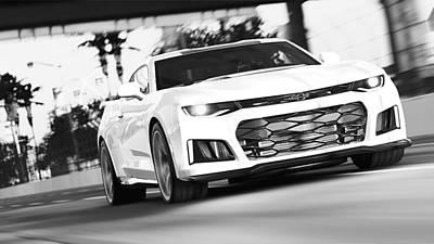 Photograph - Chevrolet Camaro Zl1 - 46 by Andrea Mazzocchetti