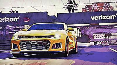 Painting - Chevrolet Camaro Zl1 - 51 by Andrea Mazzocchetti
