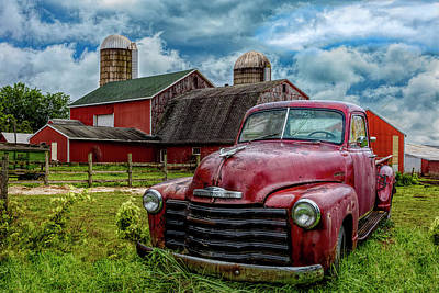 Photograph - Chevrolet In The Countryside In Hdr by Debra and Dave Vanderlaan
