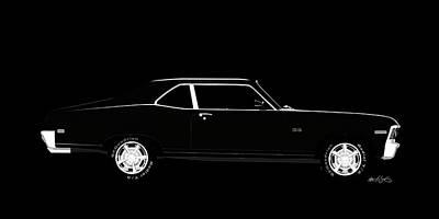 Digital Art - Chevy Nova SS by Peter J Sucy
