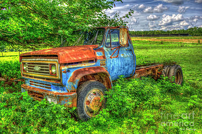 Photograph - 1973 Chevy Truck Out To Pasture Old Georgia Truck Art by Reid Callaway