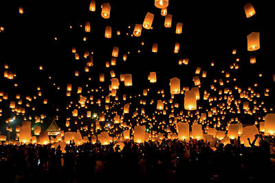 Photograph - Chiang Mai Lantern Festival by Ian Robert Knight