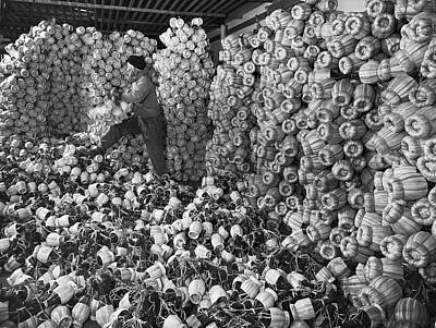 Photograph - Chianti Flasks In Storeroom Of The by Alfred Eisenstaedt