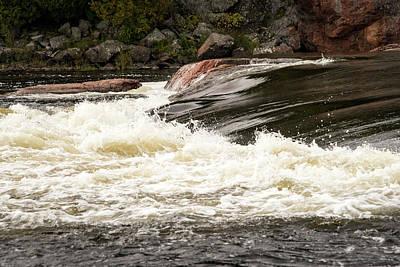 Photograph - Chiaroscuro Rapids - Mississagi River Rush  by Georgia Mizuleva