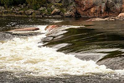 Photograph - Chiaroscuro Rapids - Mississagi River Sleek And Rough Waterflow by Georgia Mizuleva