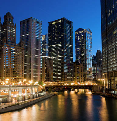 Chicago Photograph - Chicago At Dusk by Chris Pritchard