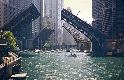 Photograph - Chicago Bridges by By Ken Ilio