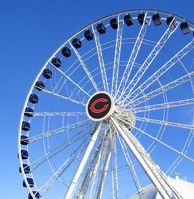 Photograph - Chicago Centennial Ferris Wheel 2 by Robert Knight