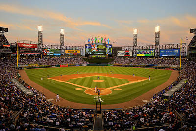 Photograph - Chicago Cubs V Chicago White Sox by Ron Vesely