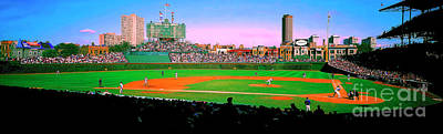 Photograph - Chicago Cubs Wrigley Field  Third And Home   by Tom Jelen