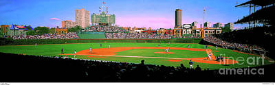 Photograph - Chicago Cubs Wrigley Field by Tom Jelen