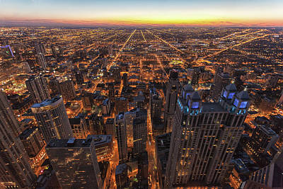 Photograph - Chicago Downtown At Sunset by Www.sand3r.com