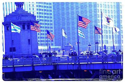 Frank J Casella Royalty-Free and Rights-Managed Images - Chicago Flags by Frank J Casella