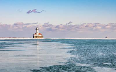 Chicago Harbor Light Landscape Art Print