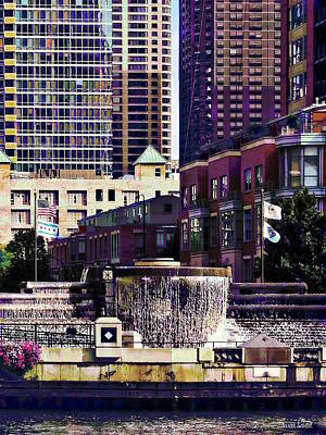 Photograph - Chicago Il - Centennial Fountain by Susan Savad