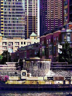 Photograph - Chicago Il - Centennial Fountain by Susan Savad