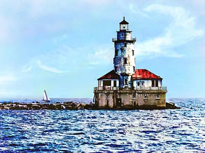 Photograph - Chicago Il - Chicago Harbor Lighthouse by Susan Savad