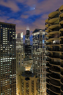 Photograph - Chicago Loop At Dusk by Chrisp0