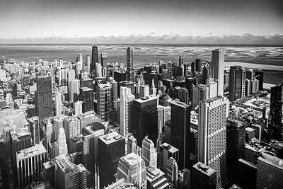 Photograph - Chicago Mono View by Framing Places