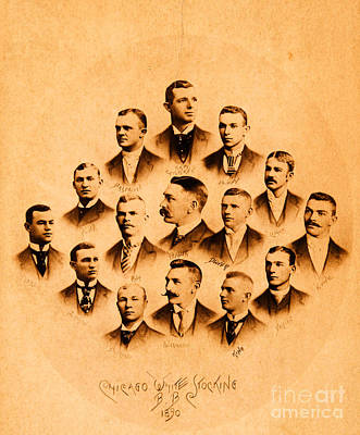 Photograph - Chicago Players League Victorian Baseball by Unknown