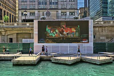 Photograph - Chicago Riverwalk Urban Park # 4 by Allen Beatty