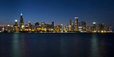Photograph - Chicago Skyline At Dusk by Katherine Gendreau Photography