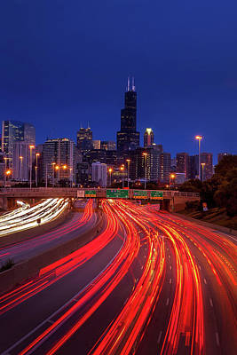Royalty-Free and Rights-Managed Images - Chicago Traffic by Andrew Soundarajan
