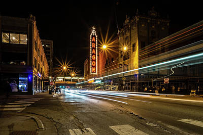 Photograph - Chicago's Aragon Ballroom Time Exposure by Sven Brogren