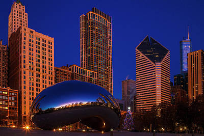 Royalty-Free and Rights-Managed Images - Chicagos Bean at Chistmas by Andrew Soundarajan