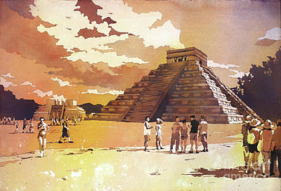 Painting - Chichen Itza- Mexico by Ryan Fox