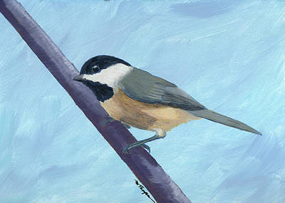 Painting - Chickadee 1 by Mary Elizabeth Thompson