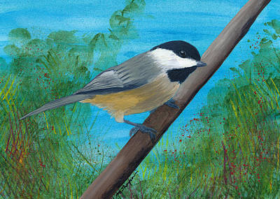 Painting - Chickadee 2 by Mary Elizabeth Thompson