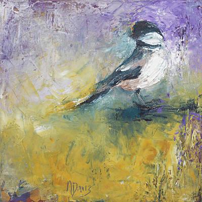 Painting - Chickadee by Nan Davis