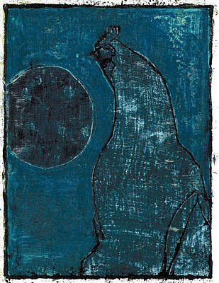 Painting - Chicken Biscuit Night Blue by Artist Dot