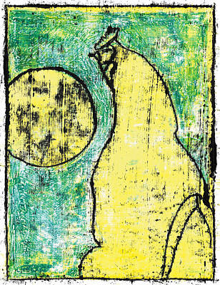Painting - Chicken Biscuit Yellow by Artist Dot
