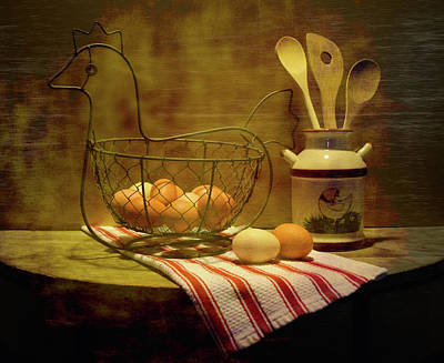 Photograph - Chicken Eggs by Pamela Walton
