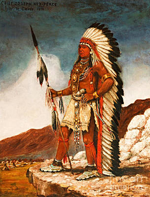 Painting - Chief Joseph Nez Perce by Henry Cross