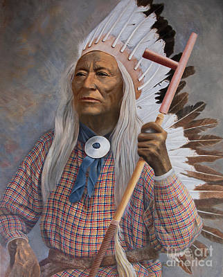 Painting - Chief Washakie Of The Eastern Shoshone by Nancy Lee Moran