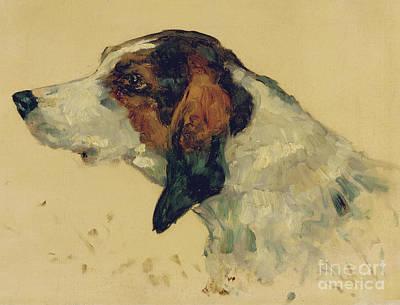 Painting - Chien De Chasse, 1881 by Henri de Toulouse-Lautrec