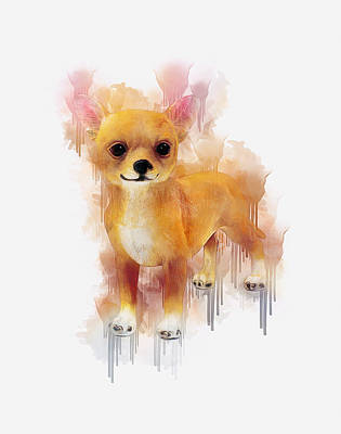 Digital Art - Chihuahua Art by Ian Mitchell