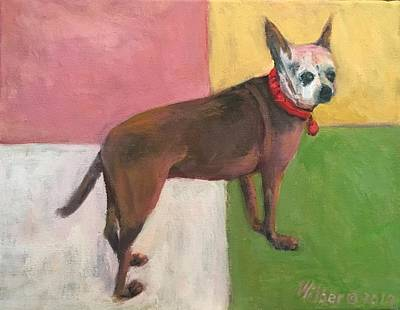 Painting - Chihuahua for Rosie by Bonnie Wilber