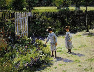 Painting - Children In The Garden by Wladyslaw Podkowinski