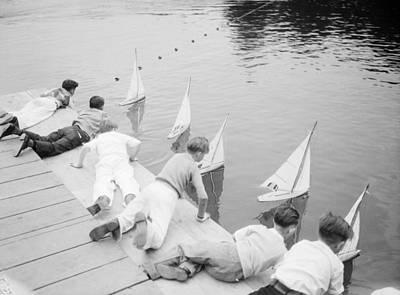 Photograph - Children With Model Boats by Bettmann