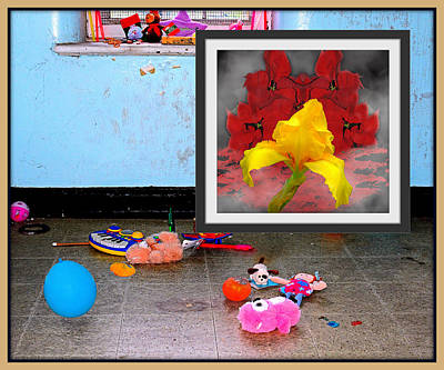Digital Art - Childs Room With Flower Picture by Constance Lowery