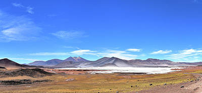 Photograph - Chile - Atacama Desert - Aguas Calientas Salt Lake by Jeremy Hall