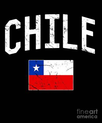 Digital Art - Chile Flag by Flippin Sweet Gear