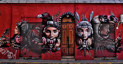Photograph - Chile - Graffiti Red And Ladies by Jeremy Hall